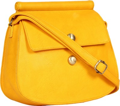 Tomas Women Yellow Leatherette Sling Bag