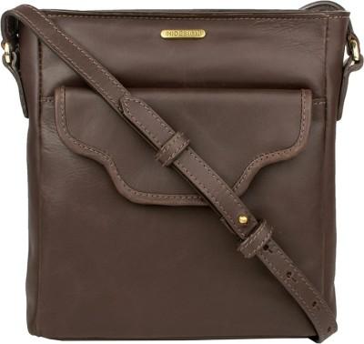 Hidesign Women Brown Genuine Leather Sling Bag  available at flipkart for Rs.3496
