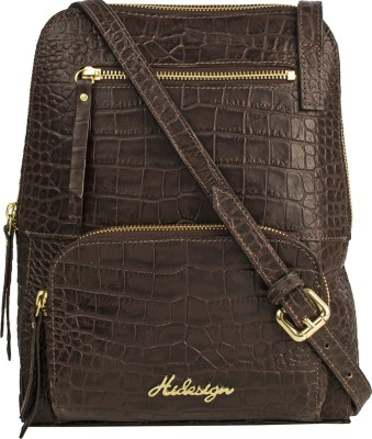 Hidesign Women Brown Genuine Leather Sling Bag  available at flipkart for Rs.3996