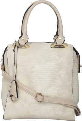 Kleio Women Beige PU Satchel at flipkart