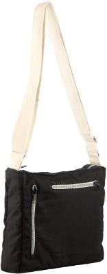 Avni Men & Women Casual Black Canvas Sling Bag