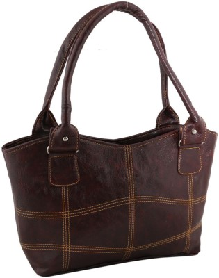 Sukkhi Women Brown PU Shoulder Bag