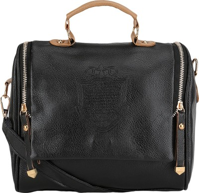 Bling It On Women Casual, Evening/Party, Festive, Formal Black PU Sling Bag