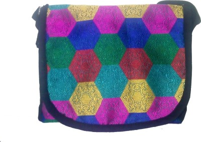 Evagloria Girls Casual Multicolor Cotton Sling Bag  available at flipkart for Rs.100