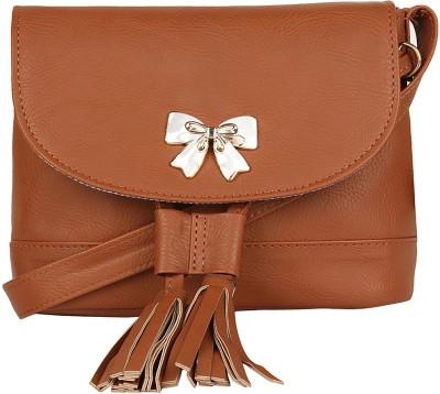 Berrypeckers Women Brown PU Sling Bag at flipkart