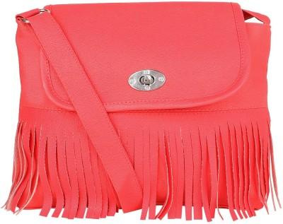 SAHAL FASHION Women Pink PU Sling Bag  available at flipkart for Rs.310