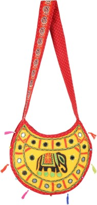 Rajrang Yellow, Red Sling Bag