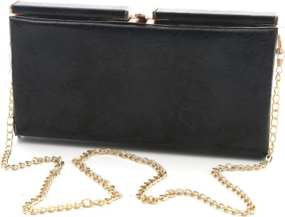 Foolzy Girls Black Leatherette Sling Bag at flipkart