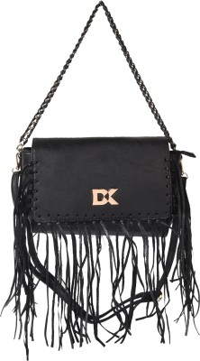 Diana Korr Women Black PU Sling Bag at flipkart