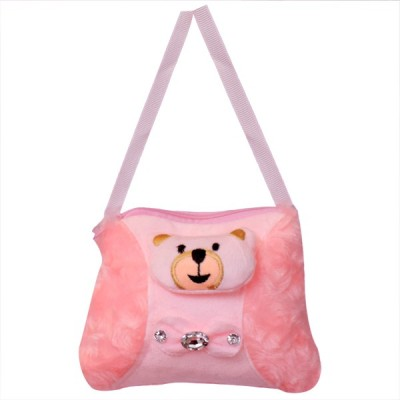AARIP Girls Pink Velvet Sling Bag  available at flipkart for Rs.139