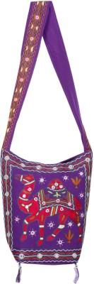 Rajrang Purple, Red Sling Bag