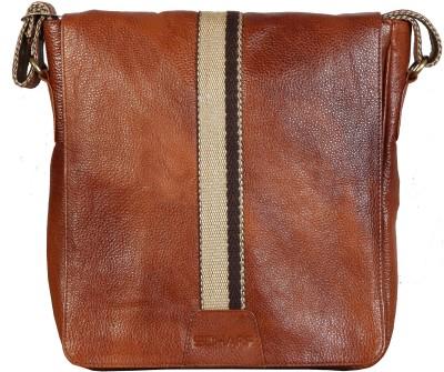 44% OFF on Scharf Men Casual Tan Genuine Leather Sling Bag on Flipkart  77acdf35bd3f9