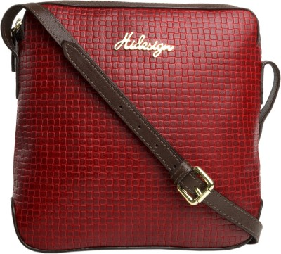Hidesign Women Red, Brown Genuine Leather Sling Bag  available at flipkart for Rs.4095