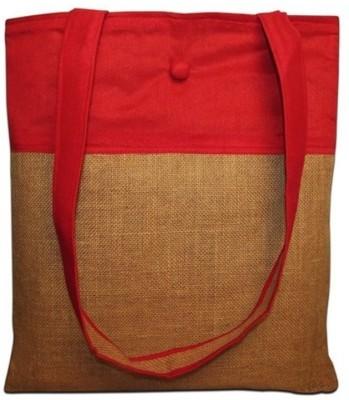 Indha Craft Men & Women Casual Brown Jute Shoulder Bag