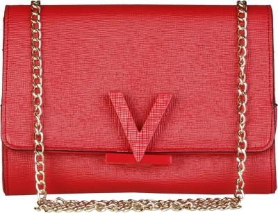 9f8db40464 77% OFF on MARIO VALENTINO Women Evening/Party Red Genuine Leather Sling Bag  on Flipkart | PaisaWapas.com