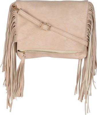 Kleio Women White Leatherette Sling Bag at flipkart