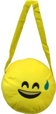 AARIP Girls Yellow Velvet Sling Bag  available at flipkart for Rs.135