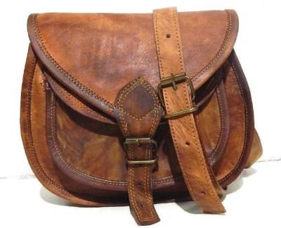 Pranjals House Brown Sling Bag original leather small shoulder bag Pranjals House Bags, Wallets   Belts