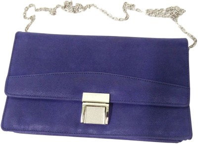 Essart Women Blue PU Sling Bag at flipkart
