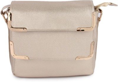 Kleio Women Gold PU Sling Bag at flipkart