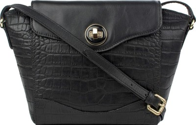 Hidesign Women Black Genuine Leather Sling Bag at flipkart