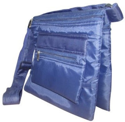 Indha Craft Men & Women Blue Polyester Sling Bag