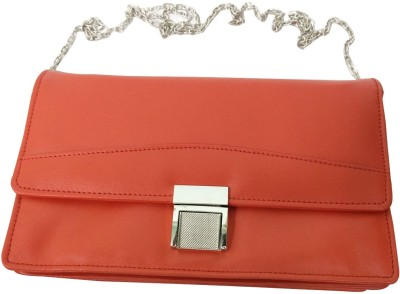 Essart Women Orange PU Sling Bag at flipkart