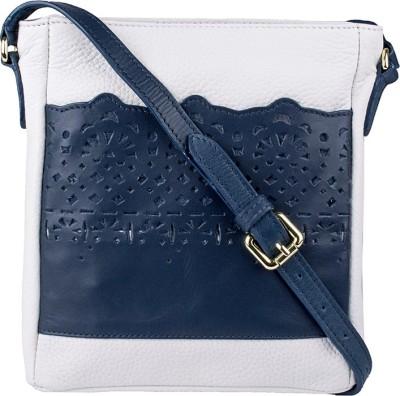 Hidesign Toy 04 White M Blue White, Blue Sling Bag at flipkart