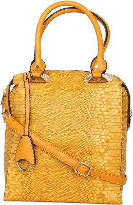 Kleio Women Yellow PU Satchel at flipkart