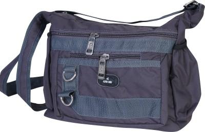 Goodwin Men Casual Grey Nylon Sling Bag