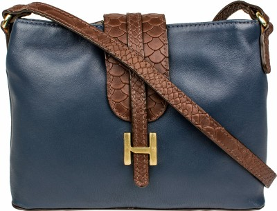 Hidesign Women Blue Genuine Leather Sling Bag at flipkart