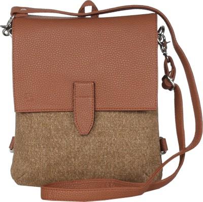 Walletsnbags Men   Women Tan Messenger Bag Walletsnbags Messenger Bags