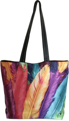 Lushomes Women Multicolor Polyester Tote