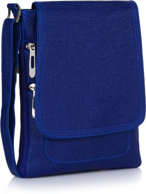 Prettyvogue Women Blue PU Sling Bag at flipkart