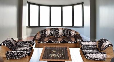 ddafd53e9df 63% OFF on Fk Golden Maroon Floral Velvet Sofa Covers