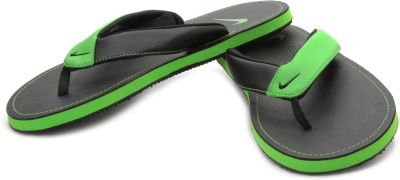 edbdb6accf38 Nike 518226-005 Men Chroma Thong Ii Black And Green Flip Flops- Price in  India