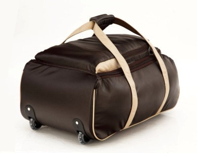 Mboss Multi Use Faux leather Unisex Brown Small Travel Bag   Medium Brown Mboss Small Travel Bags