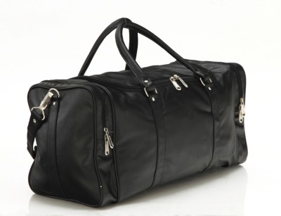 Mboss Faux leather Unisex Black Single Small Travel Bag   Medium Black Mboss Small Travel Bags