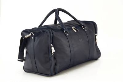 Mboss Faux leather Unisex Blue Plain Single Small Travel Bag   Medium Blue Mboss Small Travel Bags
