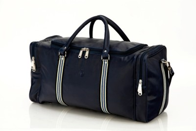 Mboss Faux leather Unisex Blue Multi Small Travel Bag   Medium Blue Mboss Small Travel Bags