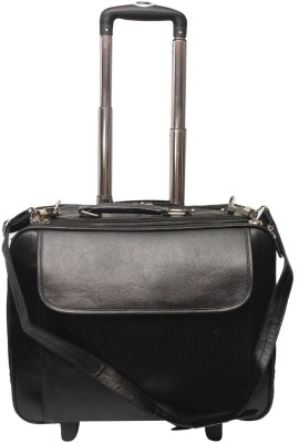 C Comfort Genuine Leather Expandable Small Travel Bag   Large Black C Comfort Small Travel Bags
