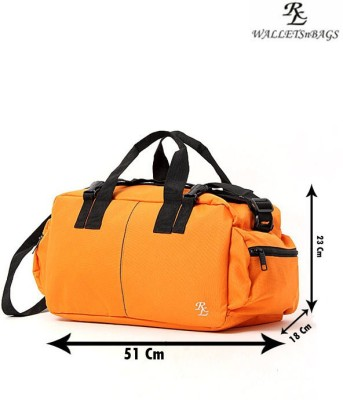 Walletsnbags Army Style Small Travel Bag   Small Orange Walletsnbags Small Travel Bags