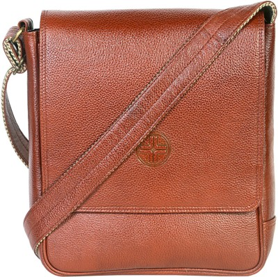 JL Collections Leather Small Travel Bag   Small Tan