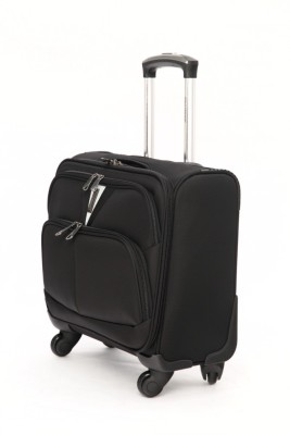 Mboss Overnighter Laptop Trolley Small Travel Bag   Medium Black Mboss Small Travel Bags