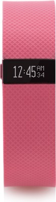 Fitbit Charge HR(Pink Strap, Size : Large)