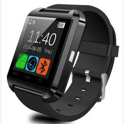 Oktata U8 Bluetooth Black Smartwatch (Black Strap)
