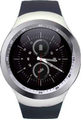 Wokit Blackberry Z30 White and Silver Smartwatch(Black Strap Regular) at flipkart
