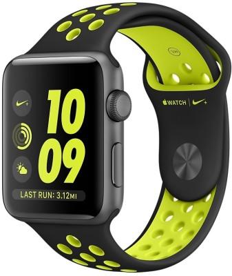 Apple Watch Nike+ - 42 mm Space Gray Aluminium Case with Black�(Black Strap Medium) at flipkart