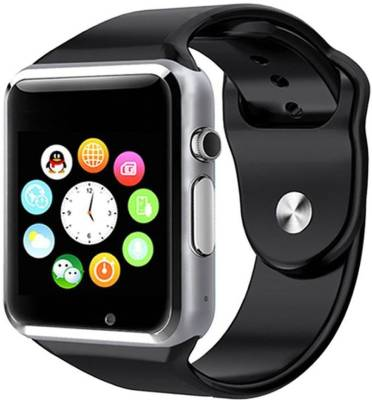 Frenzy With Sim, Memorycard slot, Bluetooth and Fitness tracker Black Smartwatch (Black Strap)