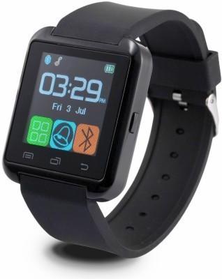 Aomax U8 With Sim For All Smart Device Smartwatch(Black Strap Regular) 1